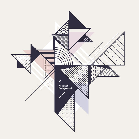 composition: Abstract geometric composition with decorative triangles