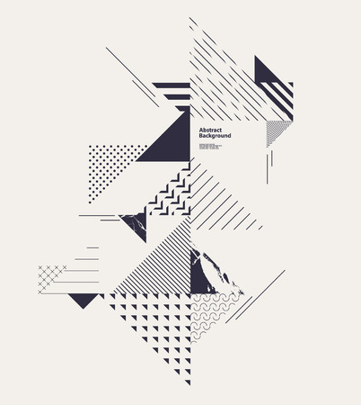 Abstract modern geometric composition Illustration