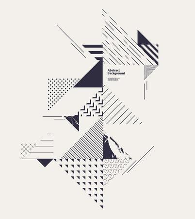 Streszczenie nowoczesny skład geometryczne Ilustracje wektorowe