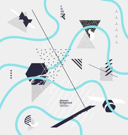 minimalistic: Abstract minimalistic geometric composition Illustration