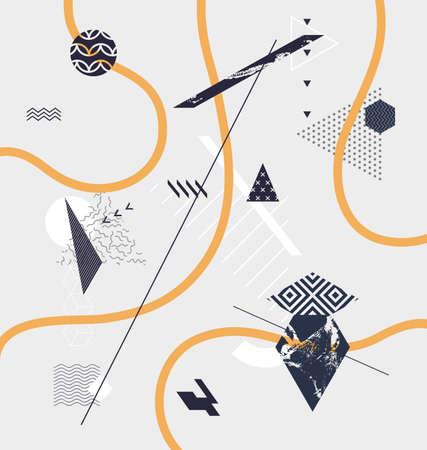 minimalistic: Abstract minimalistic geometric background Illustration