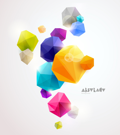 Abstract 3D colorful geometric elements