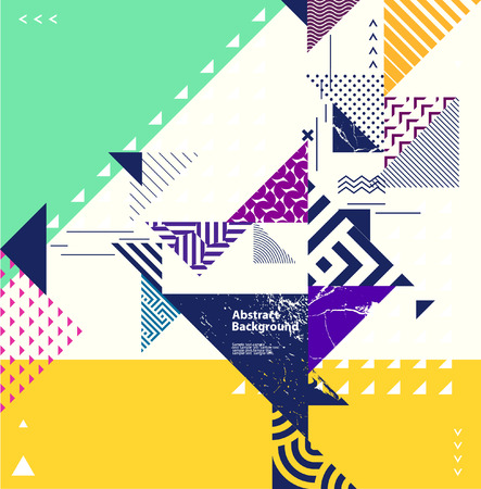 Composition géométrique abstraite avec des éléments décoratifs