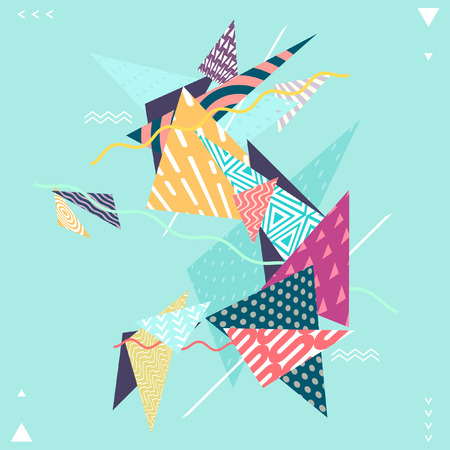 Abstract decorative geometric composition