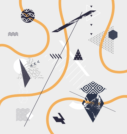 minimalistic: Abstract minimalistic geometric background Illustration