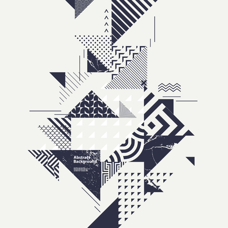 Abstract art background with geometric elements Ilustração