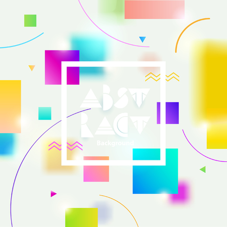 Abstract background with colorful geometric shape and space for text. Illustration