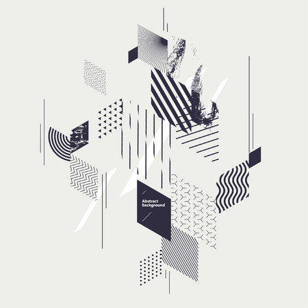 shiny background: Abstract modern geometric composition Illustration