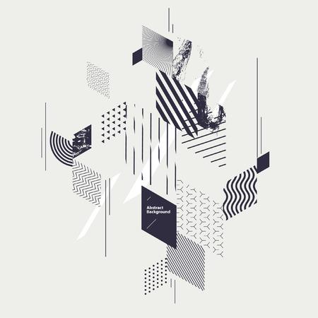 Abstracte moderne geometrische compositie Stockfoto - 73089803