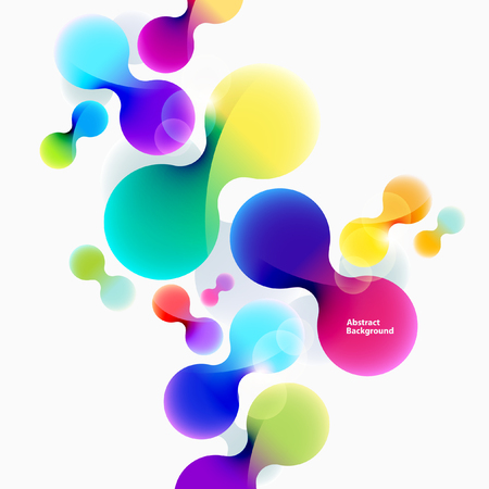 rainbow: Bright abstract background of colorful circles Illustration