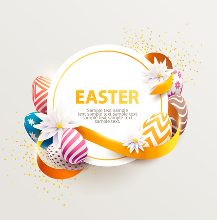 Easter colorful design. Vector poster
