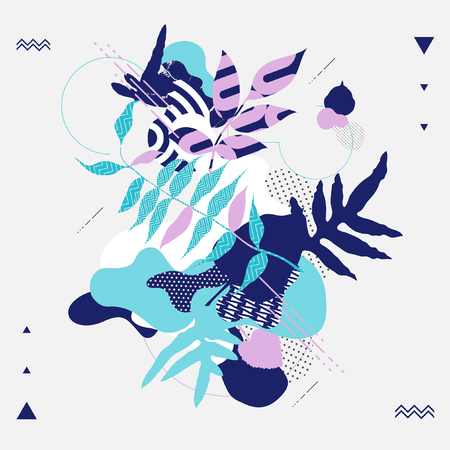 billowy: Floral abstract composition. Vector background