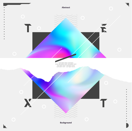 simple: Abstract geometric poster