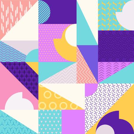 여러 가지 빛깔의 기하학 추상 패턴