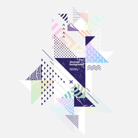 Abstract colorful geometric composition Illustration