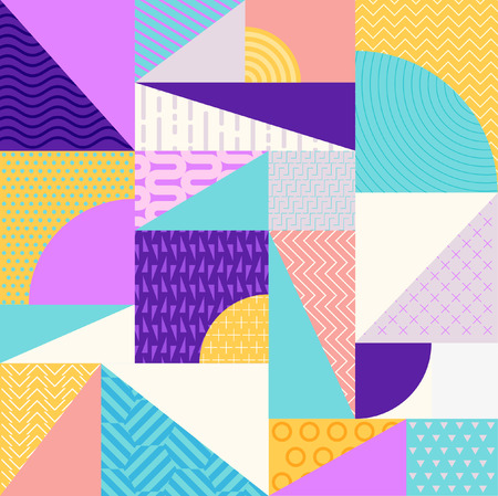 cover: Abstract multicolored geometric pattern