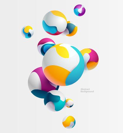 Multicolored 3D balls Illustration