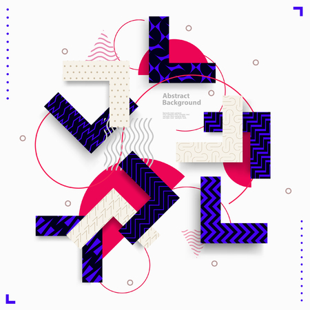 Abstract geometric composition 일러스트