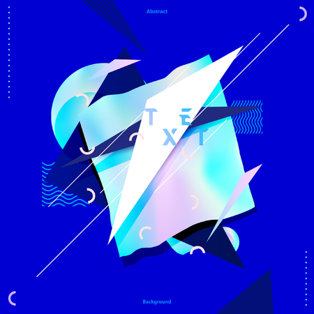 Abstract neon composition Illustration