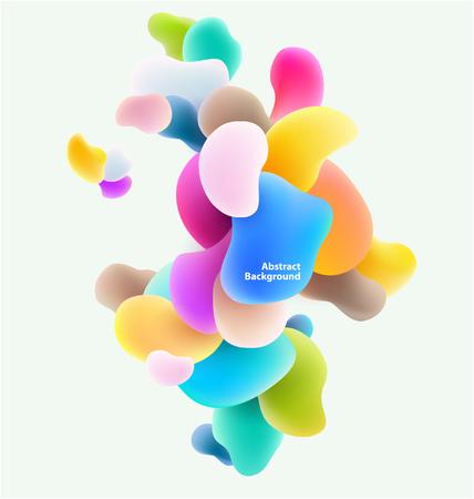 プラスチック製のカラフルな図形。抽象的な背景