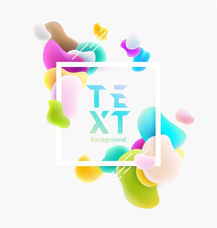 Plastic colorful shapes with square frame. Abstract background Иллюстрация