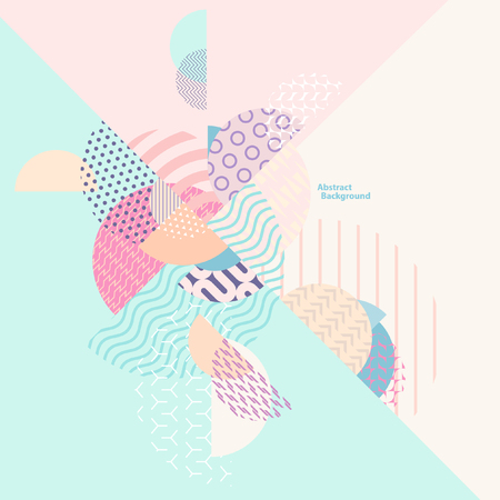 Abstract multicolored geometric composition Ilustracja
