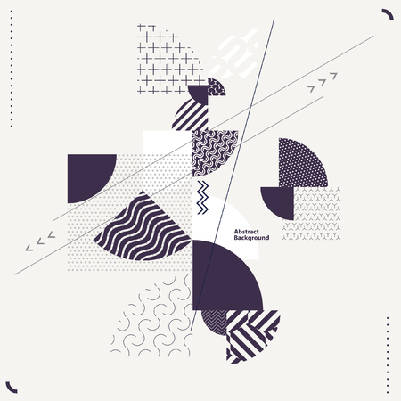 style: Abstract geometric composition Illustration