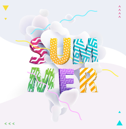 Bright summer typography