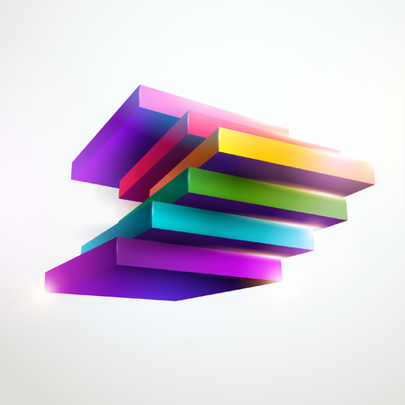 3D colorful cube Ilustracja