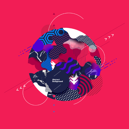 Abstract color modern geometric background