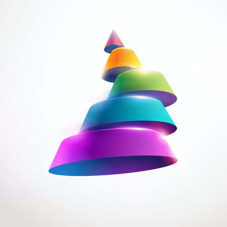 3D colorful cone