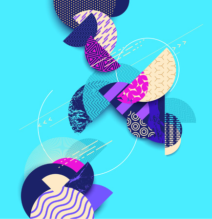 Abstract bright geometric background Ilustrace