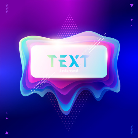 Abstract rectangular banner vector illustration.