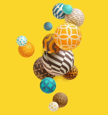 Multicolored decorative balls. Abstract vector illustration. 向量圖像