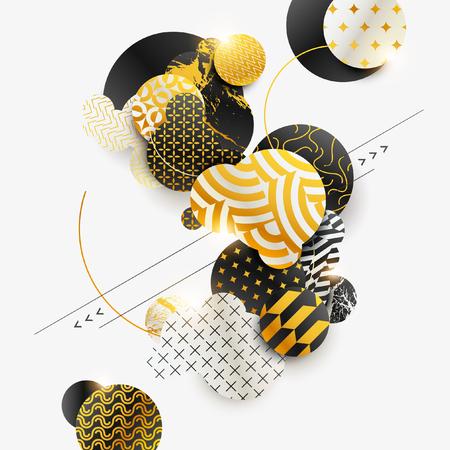 Composition abstraite géométrique décorative Banque d'images - 85563669