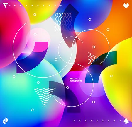 色とりどりの泡の背景