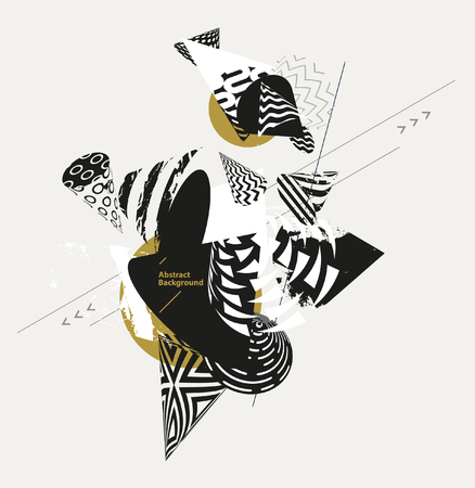 Composition of abstract decorative cones. Ilustração