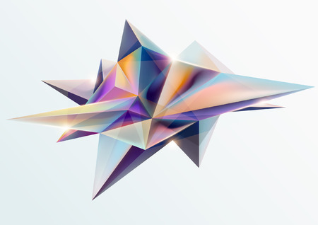 Illustration of a multicolored abstract geometric shape. 向量圖像