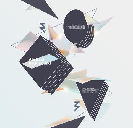 テキストのためのスペースとポスターの抽象テンプレートです。  イラスト・ベクター素材