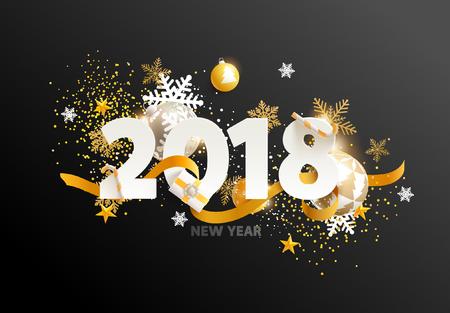 New year 2018. Greeting card