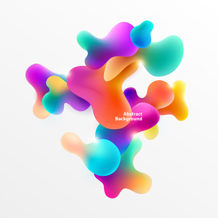 Fluid colorful bubbles. Abstract background 版權商用圖片 - 90711805