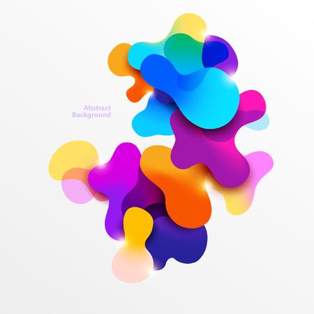다채로운 유체 거품