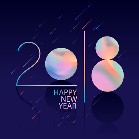Happy New Year greeting card design.
