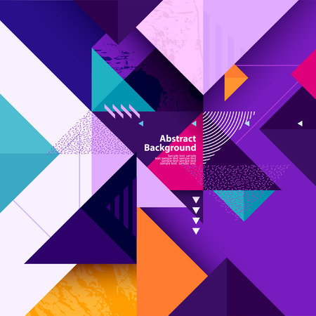 Geometric background of multi-colored triangles