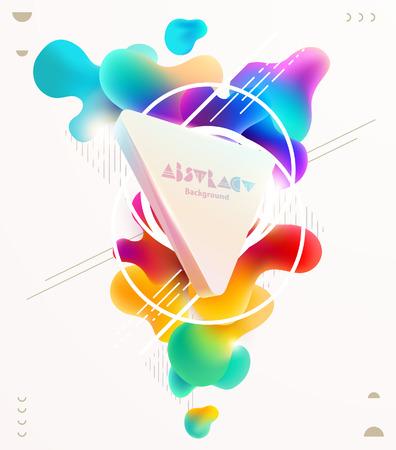 Plastic colorful shapes. Poster Design.