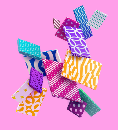 3D colorful decorative rectangles