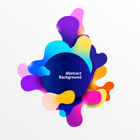 Fluid colorful banner. Abstract background bubbles 일러스트