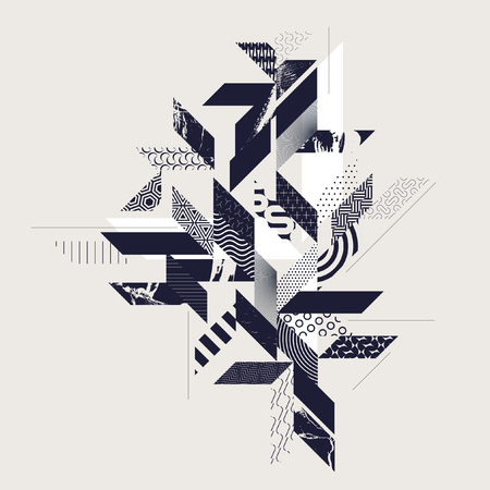 Abstract modern geometric background Ilustração