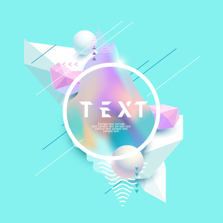 Abstract pastel composition with frame for text