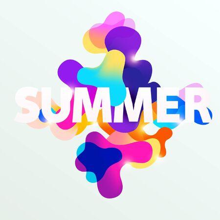 Verano tipográfico cartel. plantilla de colores Foto de archivo - 99118963